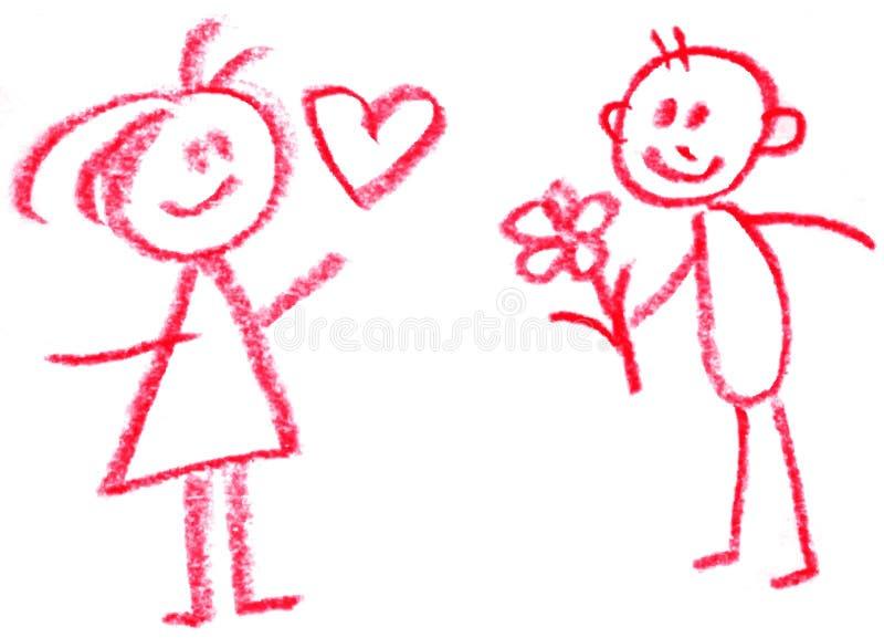 Homem e mulher ilustração do vetor