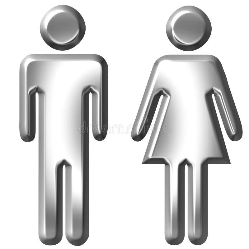 Homem e mulher ilustração stock