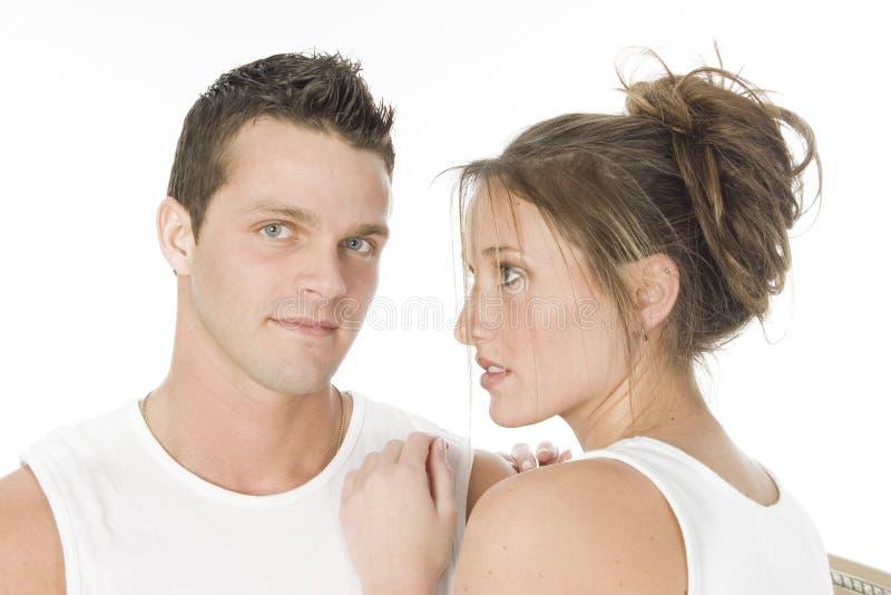 Homem e mulher imagens de stock