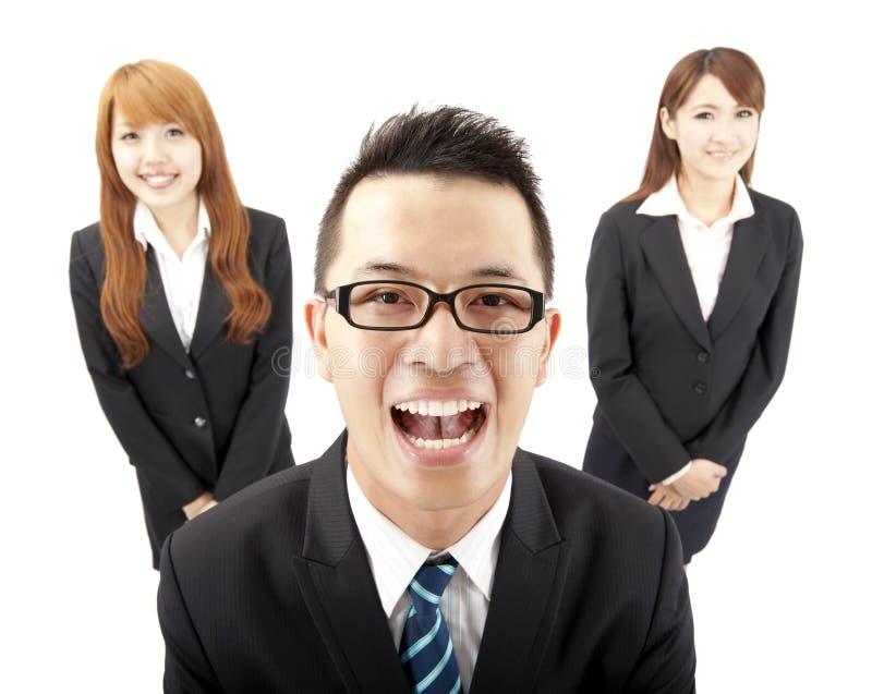 Homem e mulher asiáticos novos de negócio foto de stock