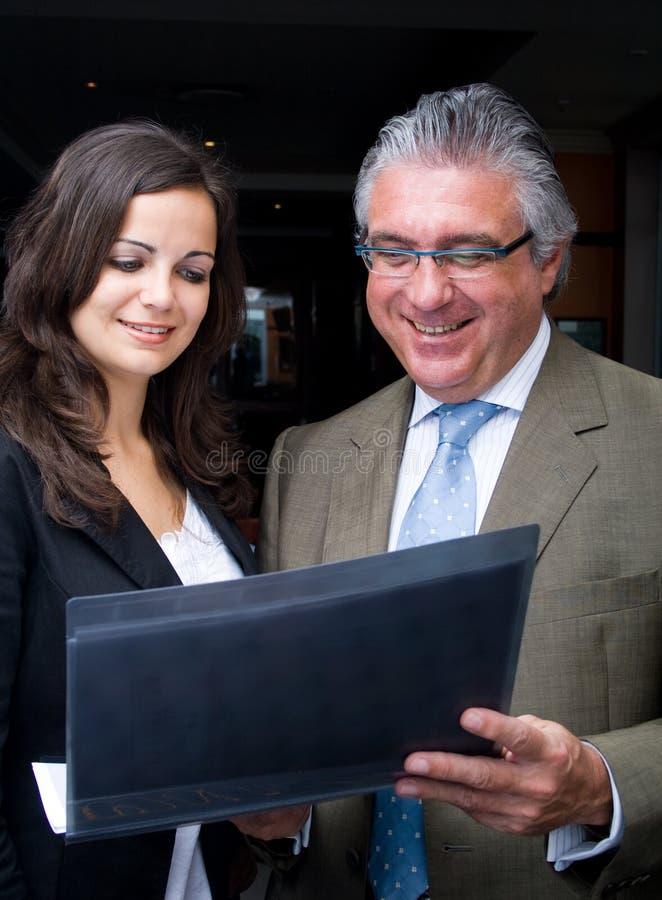 Homem e mulher de negócio foto de stock
