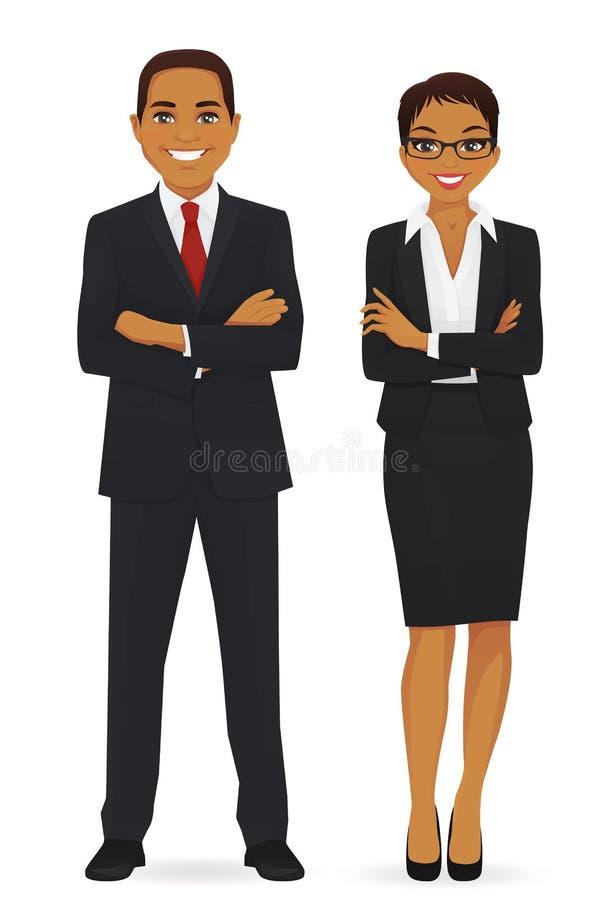 Homem e mulher de negócio ilustração royalty free