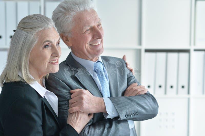 Homem e mulher de Seniour fotos de stock