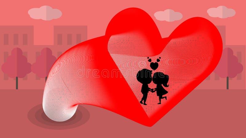 Homem e mulher do amor do casamento ilustração royalty free