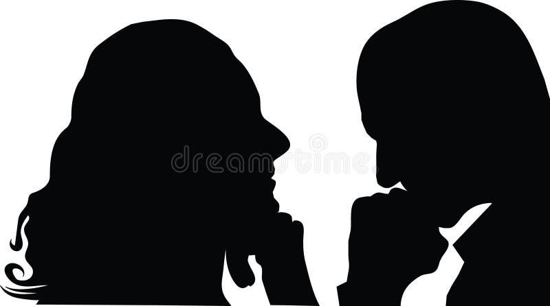 Homem e mulher do perfil ilustração royalty free