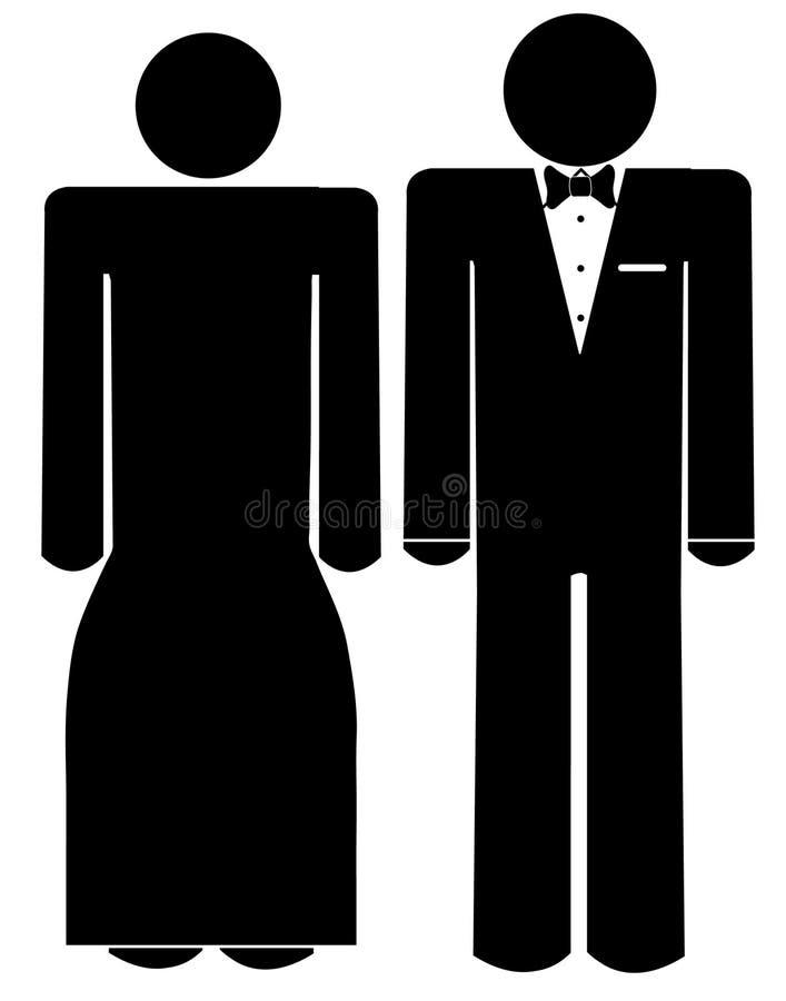Homem e mulher no desgaste formal ilustração do vetor