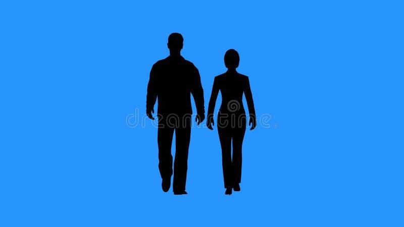 Homem e mulher que andam junto imagem de stock royalty free
