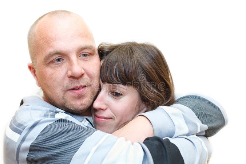 Homem e mulher um par loving junto imagens de stock