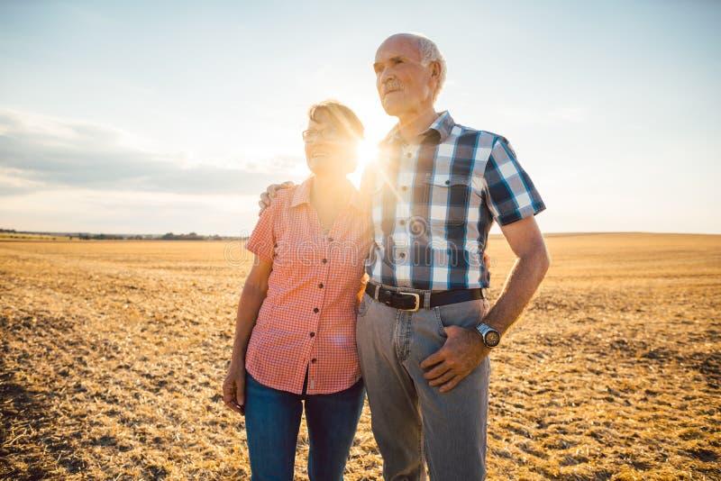 Homem e mulher, um par superior, abraçando-se imagem de stock royalty free