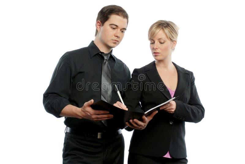 Homem e mulheres de negócio fotos de stock royalty free
