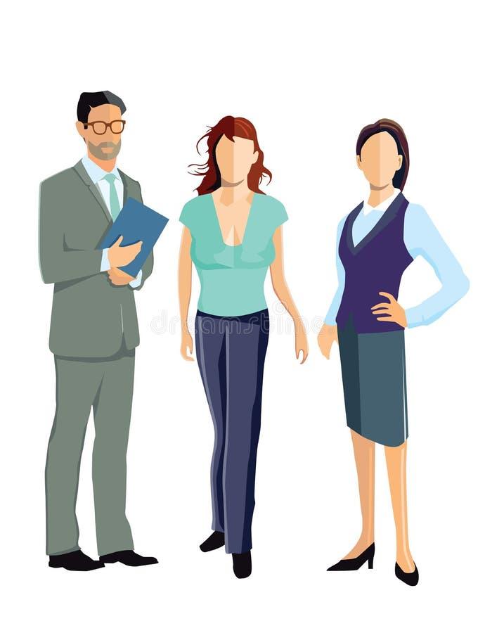 Homem e mulheres de negócio ilustração do vetor