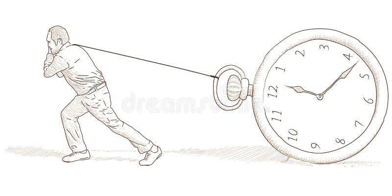 Homem e pulso de disparo ilustração do vetor