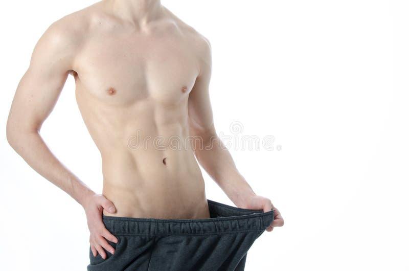 Homem e um estilo de vida saudável Problema sexual imagens de stock royalty free