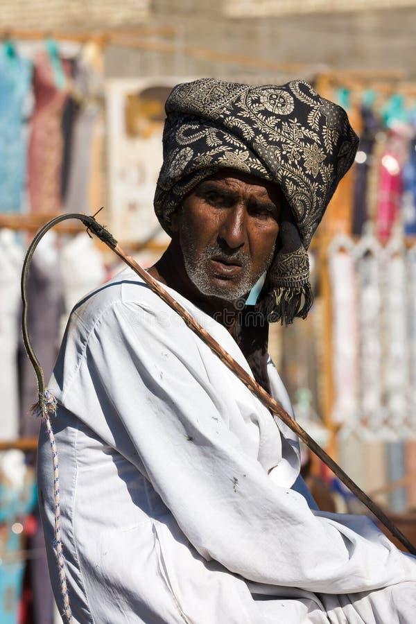 Homem egípcio com o turbante no Cairo. Egito fotos de stock royalty free