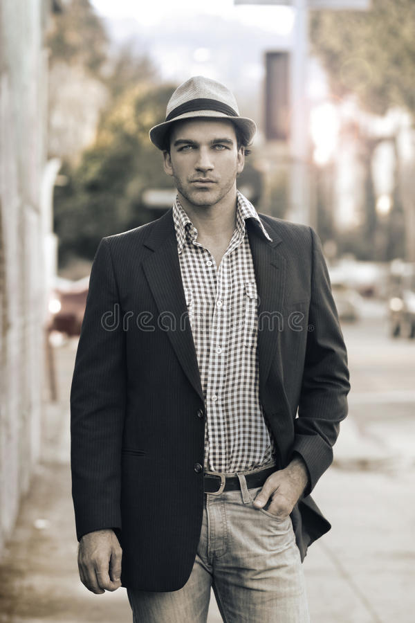 Homem elegante foto de stock
