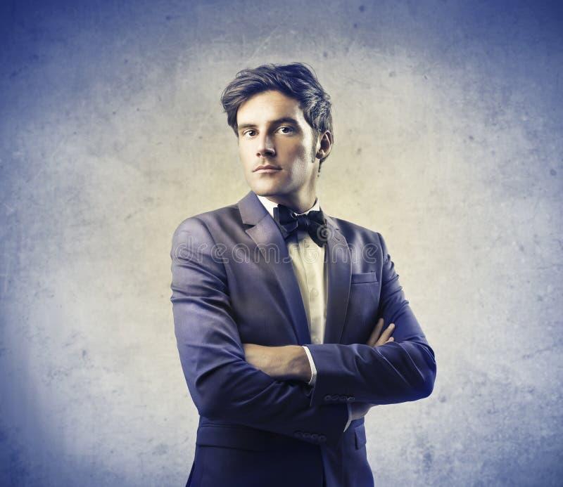 Homem elegante no terno foto de stock royalty free