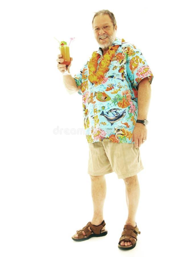 Homem em férias fotografia de stock royalty free