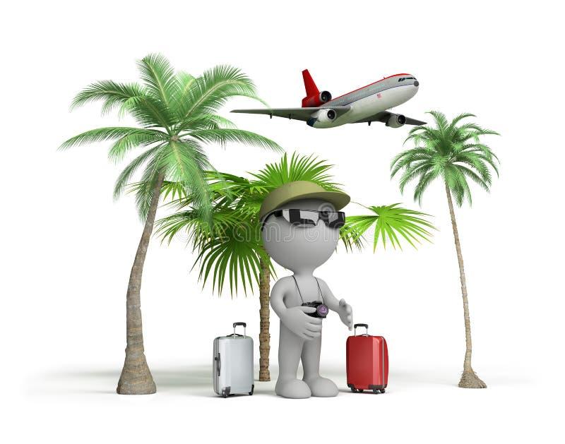 Homem em férias ilustração stock