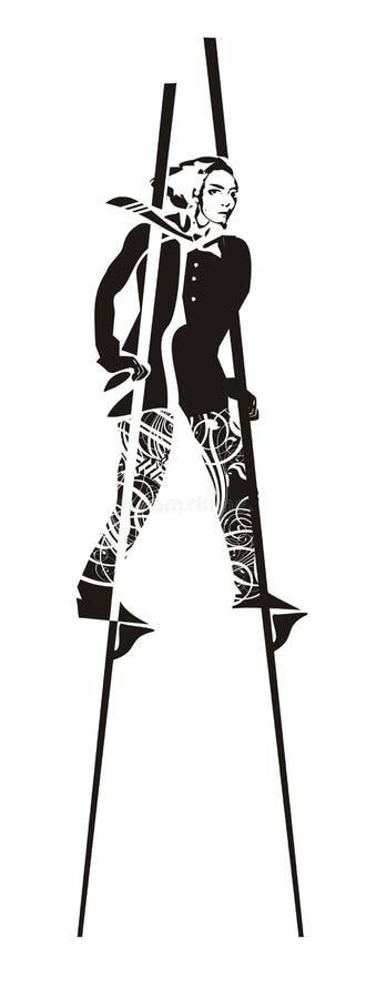 Homem em stilts imagem de stock