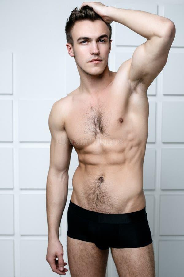 Homem em topless da forma fotos de stock royalty free