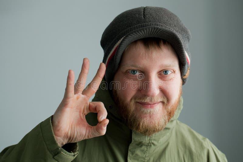 Homem em um chapéu imagens de stock royalty free