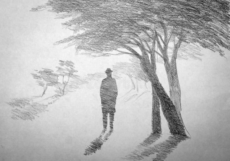 Homem em um chapéu ilustração do vetor