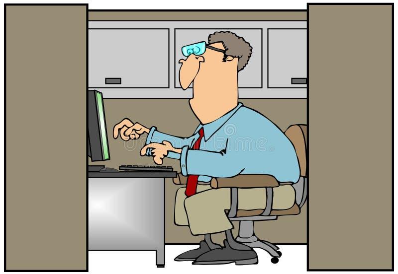 Homem em um compartimento ilustração do vetor