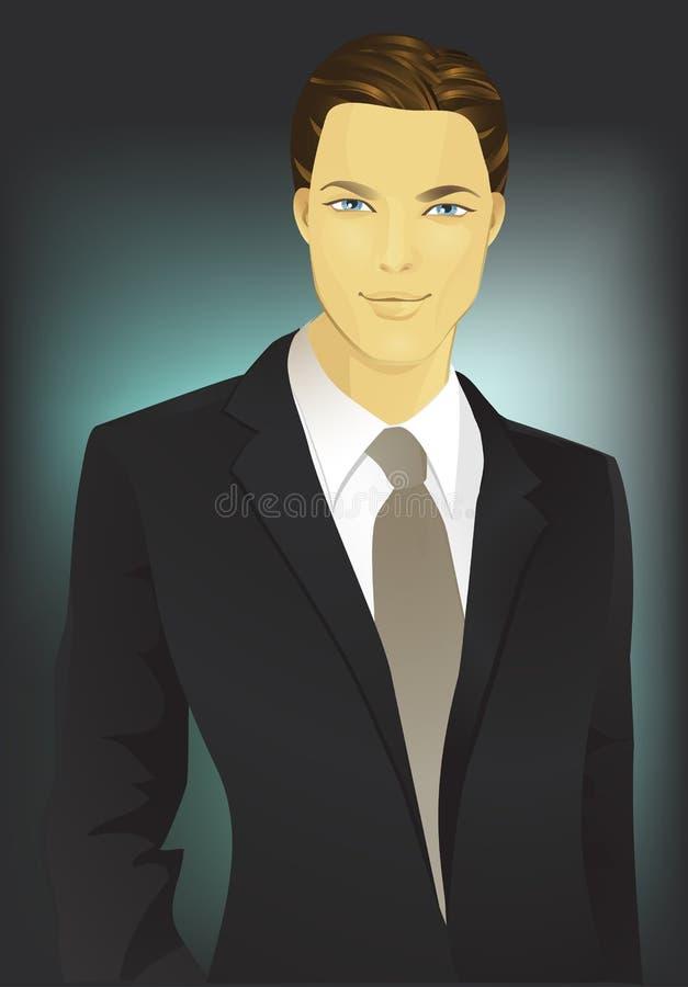 Homem em um terno foto de stock