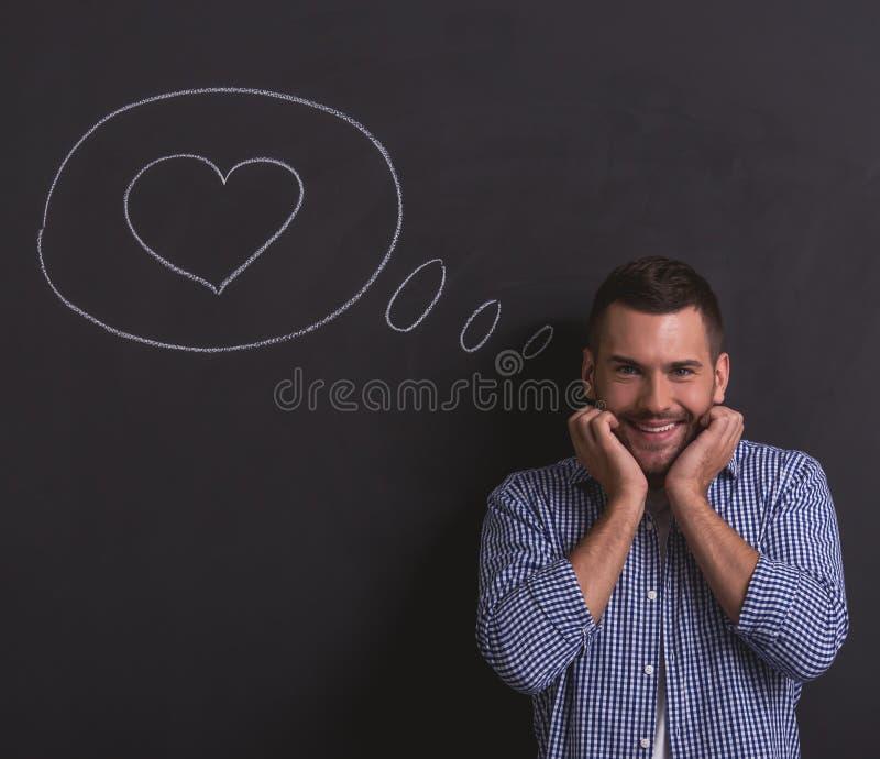 Homem emocional considerável imagens de stock royalty free