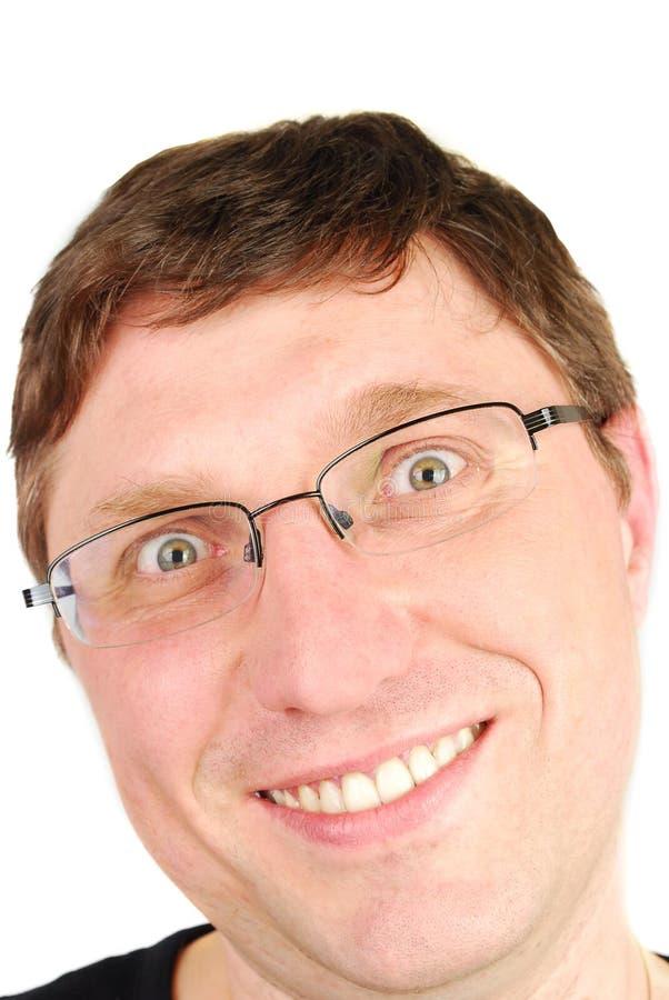 Homem engraçado da face fotografia de stock