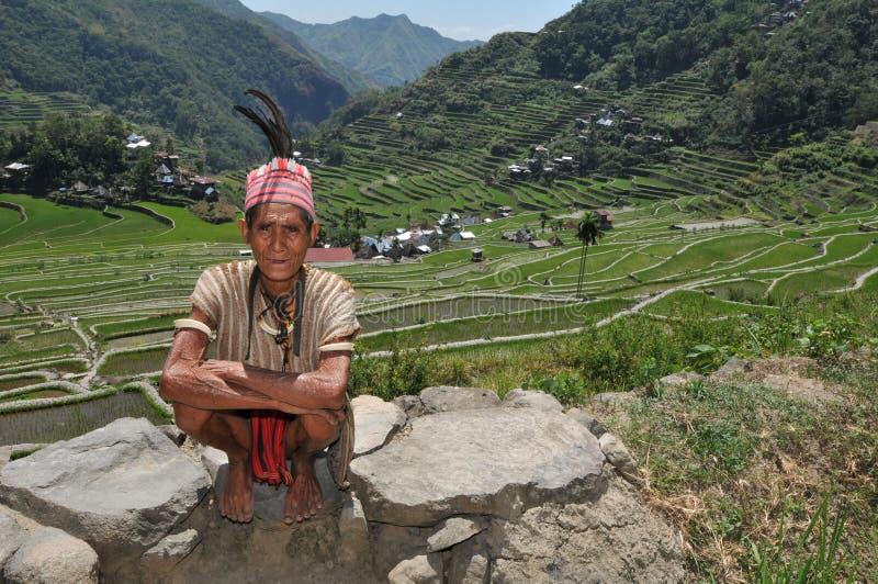 Homem envelhecido indígeno fotografia de stock royalty free