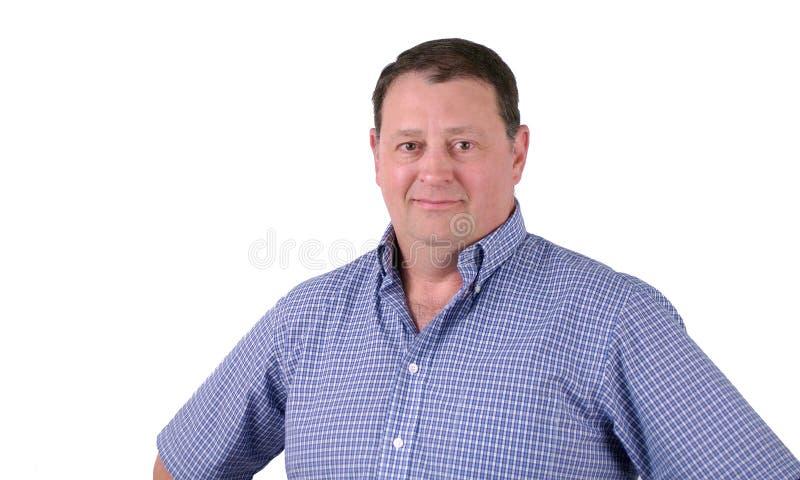 Homem envelhecido médio feliz foto de stock