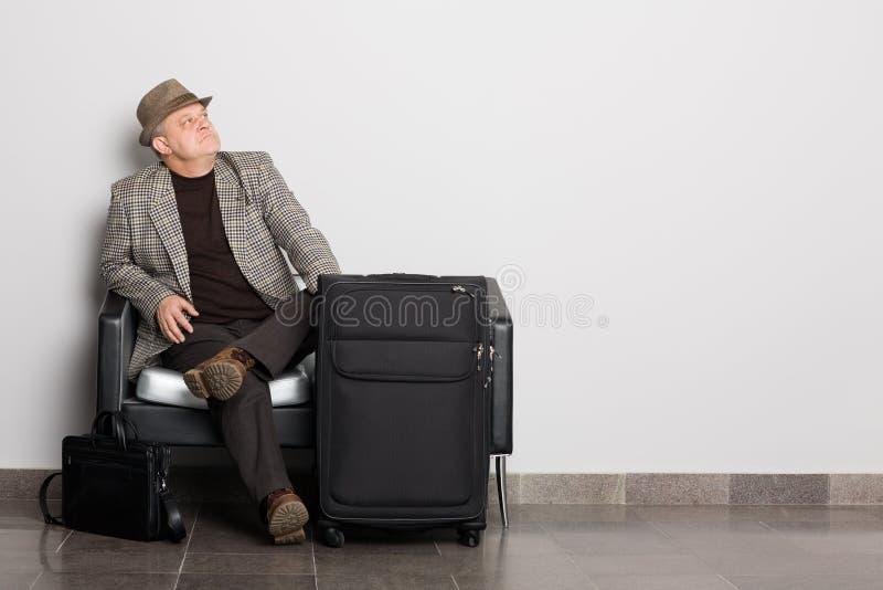 Homem envelhecido médio respeitável foto de stock