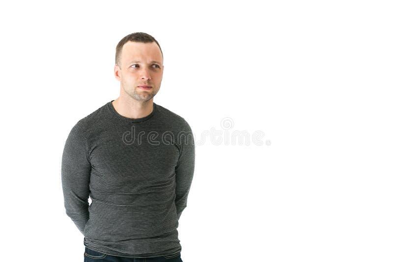 Homem europeu adulto novo de pensamento imagens de stock