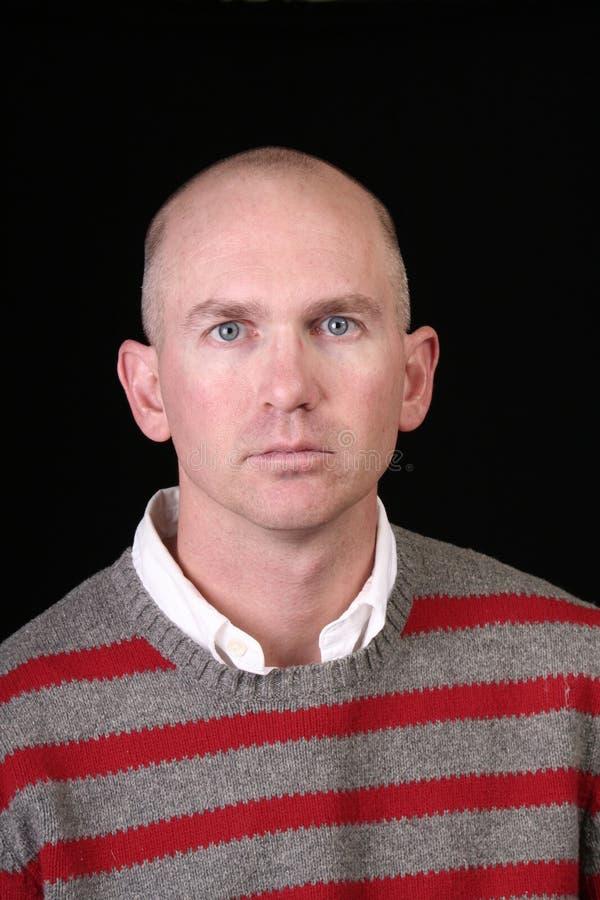 Homem eyed azul ocasional foto de stock