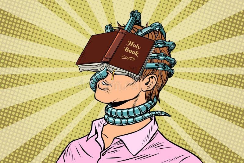 Homem fanático religioso ilustração stock