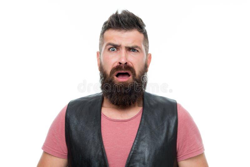 Homem farpado Cuidado do cabelo e da barba Cuidado masculino do barbeiro moderno assustado do homem Cuidado facial Novo e brutal  fotografia de stock royalty free