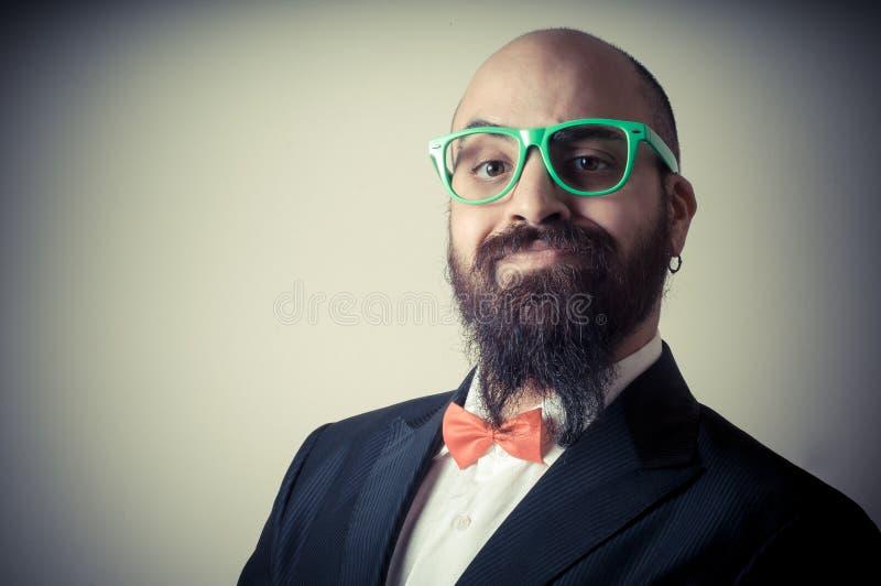 Homem farpado elegante engraçado fotografia de stock