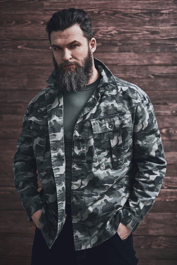 Homem farpado ? moda foto de stock royalty free