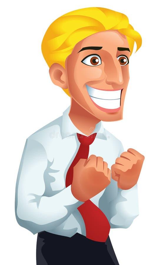 Homem feliz ilustração stock