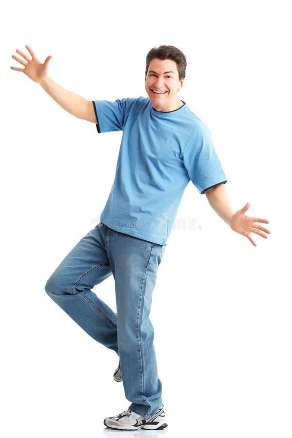 Homem feliz imagens de stock