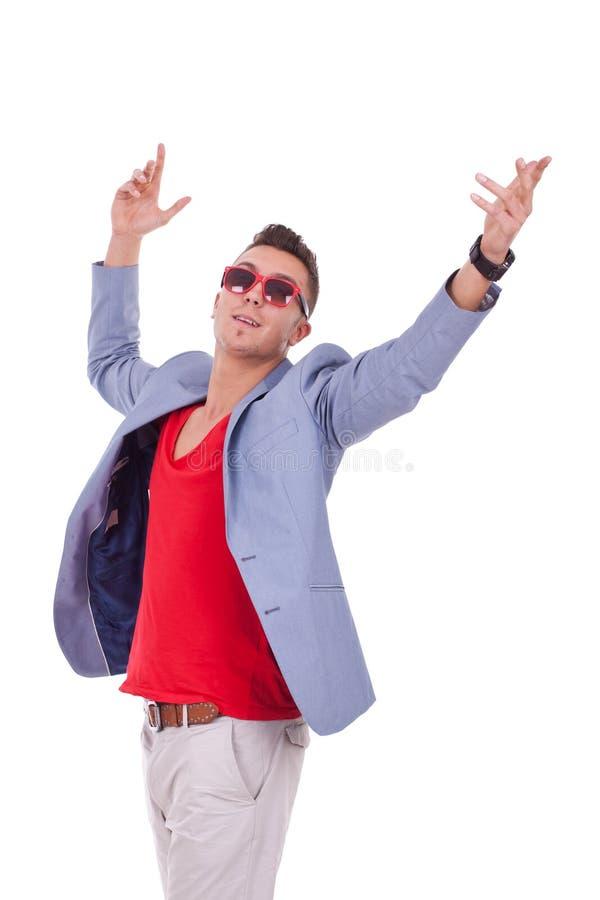 Homem feliz novo fotografia de stock royalty free