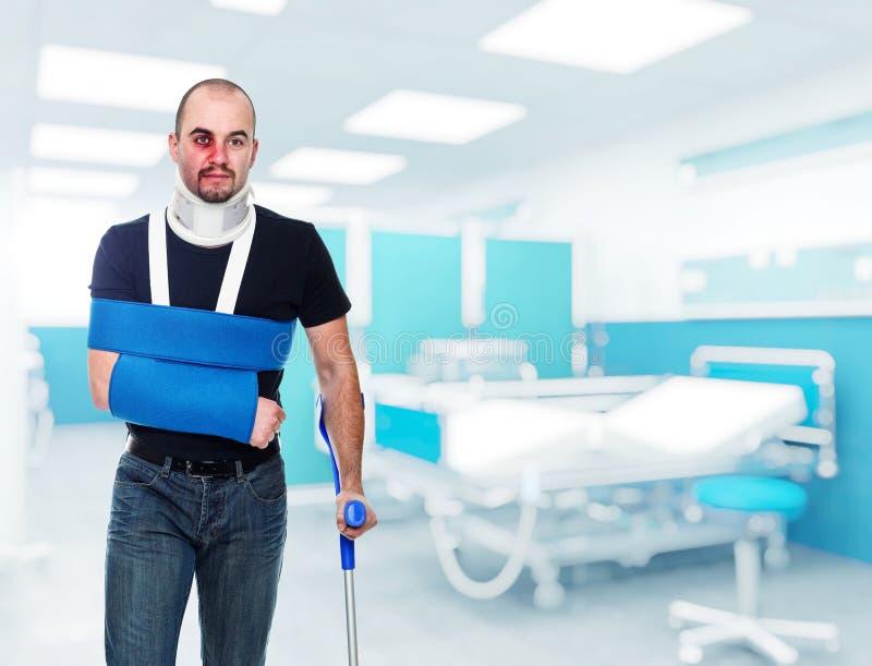 Homem ferido fotos de stock royalty free
