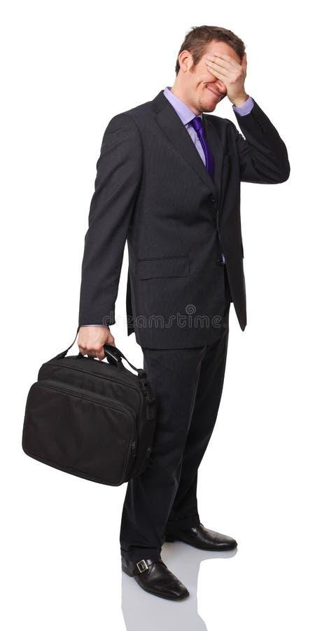 Homem forçado imagens de stock