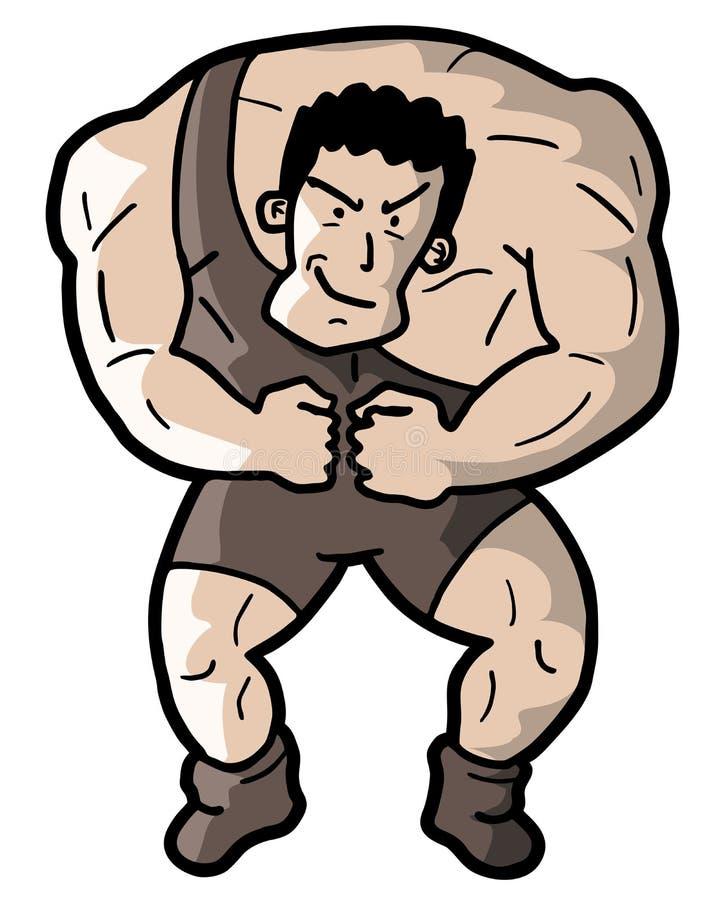 Homem forte ilustração stock