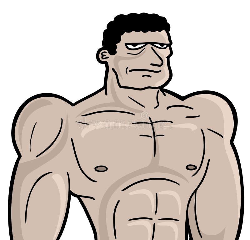Homem forte ilustração do vetor