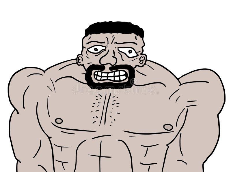 Homem forte ilustração royalty free