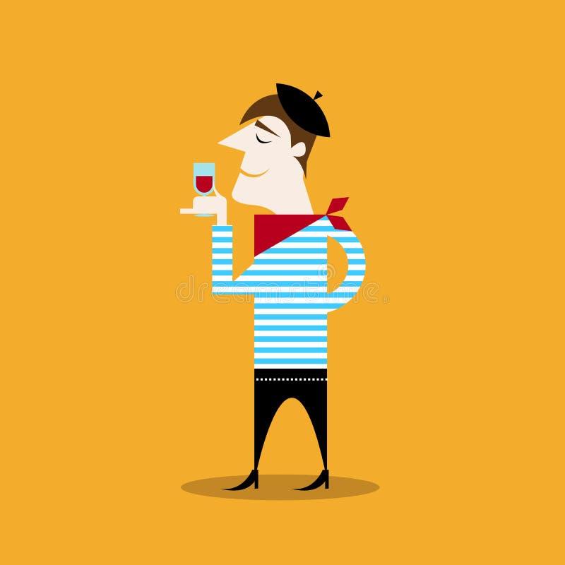 Homem francês ilustração royalty free