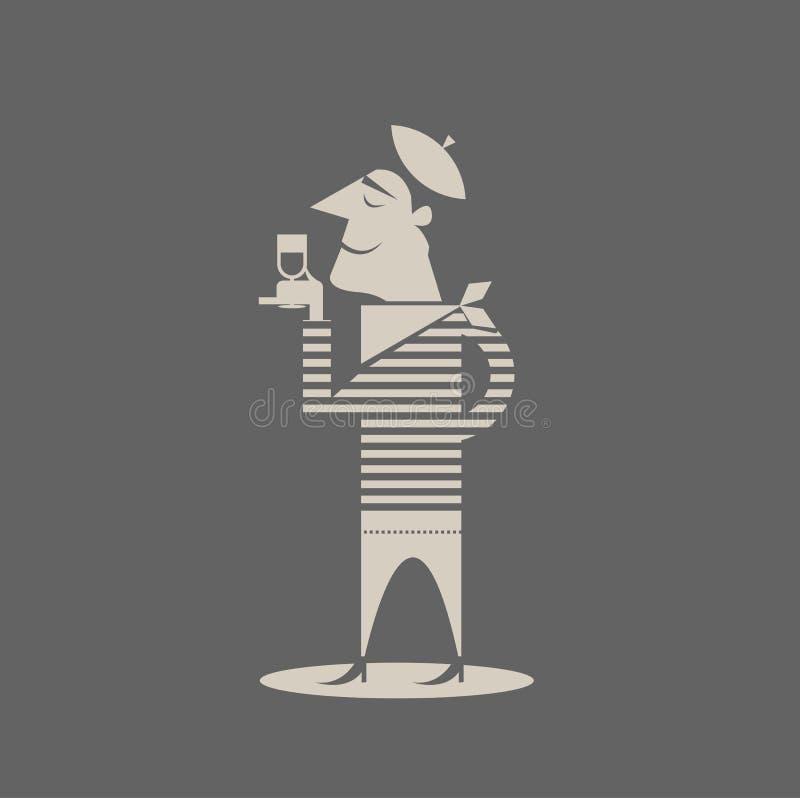 Homem francês ilustração stock
