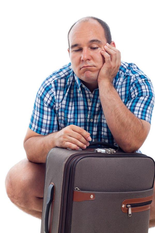 Download Homem Furado Do Viajante Com Bagagem Foto de Stock - Imagem de adulto, blond: 26522400